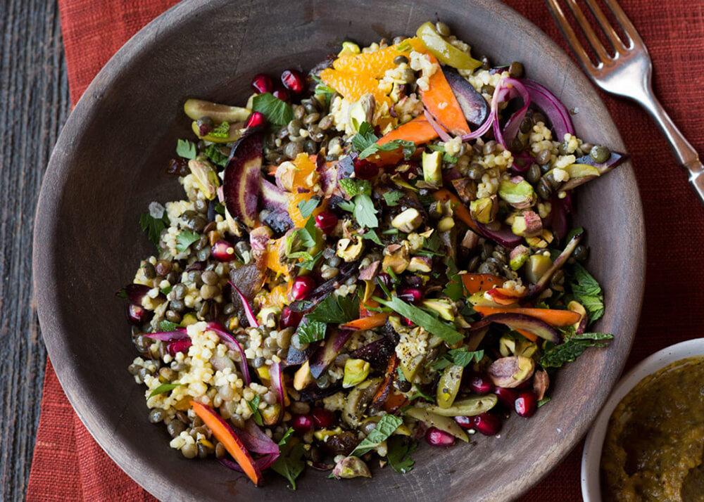 salada lentilhas - Saladas frescas e saudáveis para o verão