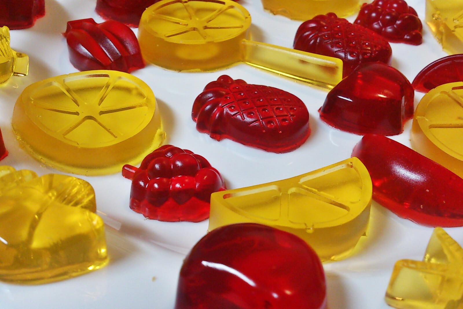 gomas gelatina - Lanches saudáveis para a escola